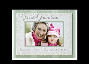 Malden International Designs Great-Grandma Double Layer Wood Picture Frame 4x6,