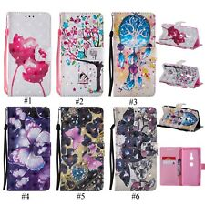 Bling Strap Leather Case Wallet Stand Cover For Sony Xperia XA1 XZ1 Compact LG