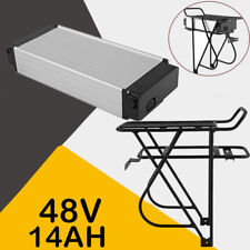 48V 14AH Lithium-ion Rack Mount Battery with Charger Rack for ebike fit 1000W A+