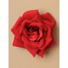 extra large crimson red rose hair clip  sexy spanish dancer, evening out