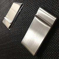 HOT Money Clip Stainless Steel/Silver Metal Pocket Holder Wallet Credit Card&