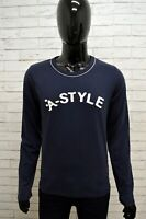 Maglia Uomo A-STYLE Maglietta Taglia M Polo Shirt Man Manica Lunga Cotone Blu
