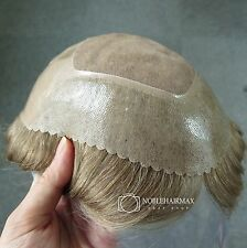 Mens Hairpieces Mono Base Hair Replacement System Durable Toupee Human Hair #20