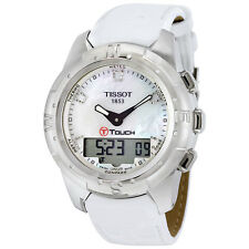 Tissot T-Touch II White Mother of Pearl Ladies Watch T0472204611600