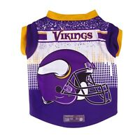 Minnesota Vikings NFL Dog Pet Performance Tee Sizes XS-XL