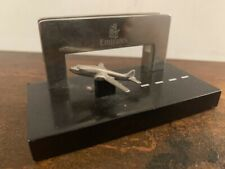 Vintage EMIRATES Business Card Holder Desk Tidy Australian aviation aeroplane