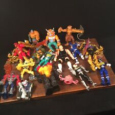Vtg Toy Lot (16) Action Figure Transformers TMNT MOTU Power Rangers WWF PRIORITY