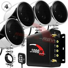 1000W AMP Waterproof Bluetooth Motorcycle Audio Stereo Speakers MP3 System Radio