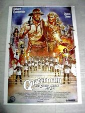ALLAN QUATERMAIN CITY OF GOLD Orig Movie Poster RICHARD CHAMBERLAIN SHARON STONE