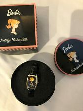 Barbie Doll Nostalgic Watch by Avon/ Mattel 2002 Never Used in Tin & Box