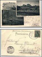 Gebr 1949 Ak Mbk Lensahn Park Bus Schloss.. Bahnpost 30378