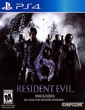 Juegos enmarcado impresión: Resident Evil 6 Playstation 4 edición (imagen Arte Cartel)