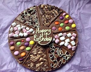 Chocolate Pizza Personalised, 24cm (9.5inch) Birthday, Anniversary, Easter