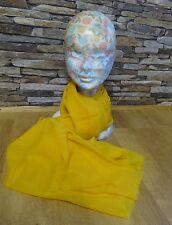 Lochcarron Bright Yellow 100% Wool Fine Weave Scarf Wrap Shawl New