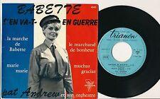 "PAT ANDREW EP 7"" FRANCE LA MARCHE DE BABETTE (BRIGITTE BARDOT) GILBERT BECAUD"