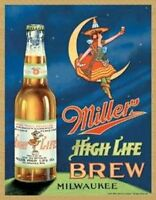 Miller High Life Brew Vintage Retro Tin Metal Sign 13 x 16in