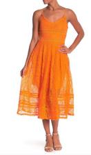 NSR - Lace Midi Summer Dress Sleeveless - Orange - Size XL