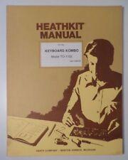 Heathkit/Thomas Keyboard Kombo Model TO-1102 Kit Organ Manual