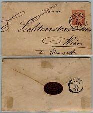 AUSTRIA-5 kr Busta postale viaggiata Pozsony->Vienna 20.11.1871