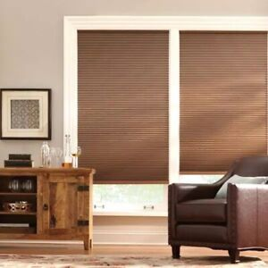 Mocha Cordless Blackout Cellular Shade - 47 in. W x 48 in. L by Home Decorators