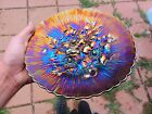 Northwood Amethyst Swirl Effect Poppy Show Plate - Perfect Put Your Eyes On This