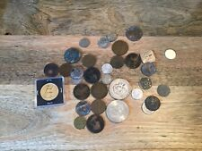 A vintage joblot of coins in used condition