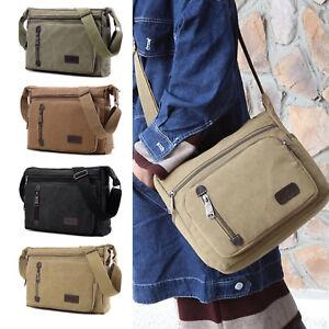 Canvas Shoulder Bag Vintage Military Messenger Bag Satchel Briefcase Handbag Men