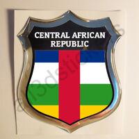 Pegatina Republica Centroafricana 3D Escudo Emblema Relieve Adhesivo Resina