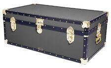 """GREY Traditional Mossman 36"""" Steamer Boarding School Luggage Trunk 36""""x20""""x14"""""""