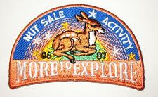 "Girl Scout Fun Patch with Deer ""More To Explore-Nut Sale Activity"" 2006-07"