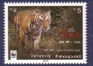 Nepal 2010 MNH, WWF, Tiger, Wild Animals