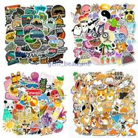 50 × Camping Cartoon Animal Laptop Suitcase Sticker Notebook Graffiti DIY Decals