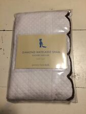 Pottery Barn Kids New Small White 100% Cotton Diamond Matelasse Sham