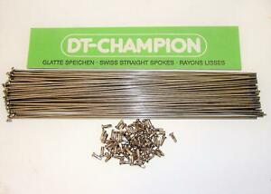 ~ 75 New DT Swiss 305mm Champion Stainless 2.0mm 15 Gauge Spokes & Nipples ~