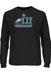 Philadelphia Eagles Black Super Bowl LII Champions Fanfare Big&Tall Long Sleeve