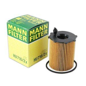 Mann Oil Filter HU716/2x fits Citroen C4 CACTUS C4 CACTUS 1.6 HDi 90