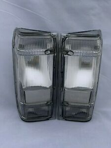 FORD RANGER YRS 83-92 & BRONCO 2 YRS 83-90 GRAY CLEAR TAIL LIGHTS NEW free bulbs