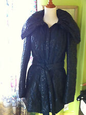SAVE THE QUEEN PADDED COAT NAVY/BLUE PAISLEY SIZE L
