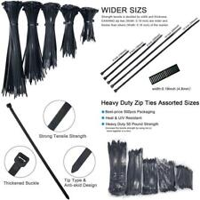 New listing 500 Pack Zip Ties Assorted Sizes, All Thickened Width 0.19 Inch 50 Pound Wire Ti