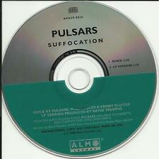 THE PULSARS Suffocation REMIX PROMO DJ CD Single Wilco