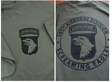 101st AIRBORNE Screaming Eagles T-Shirt XXL Ultra Cotton Military Green