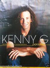 "Kenny G ""Paradise"" Japanese Promo Poster - Smooth Jazz Saxophone Music"