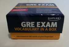 Kaplan GRE Exam Vocabulary in a Box 500 Words Flash Cards 2nd Edition Homeschool