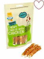 Pawsley Good Boy Chewy Twists With Chicken Meat Treats Chews