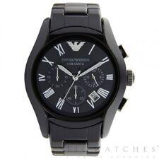 Armani Uhren Keramik Schwarz Herren Chronograph Uhr AR1400