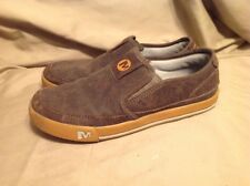 Merrell Brown Leather Sky Jumper Brash Moc Loafer Unisex Boys Sz 5 Women's Sz 7