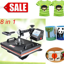 【DIY】8in1 Transfer Sublimation T-Shirt Mug Hat Cap Heat Press Printing Machine