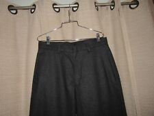 BANANA REPUBLIC mens 32 x 33 dark gray thick wool Emerson flat front pants