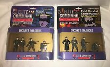 "2 Packages - Elite Command Diecast Soldiers ""Gen. Patton"" and ""Erwin Rommel"" NIB"