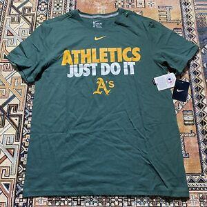 NEW Oakland As Athletics Nike Center Swoosh Just Do It Shirt Mens Large